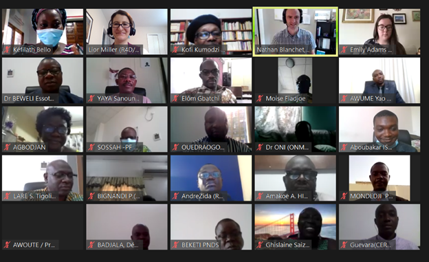 Accelerator Togo Co-creation Workshop on Zoom