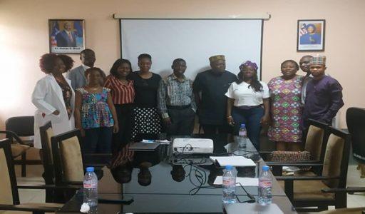JFKMC Management Team, USAID/Liberia Representative and Accelerator (HSDF) team at an engagement meeting