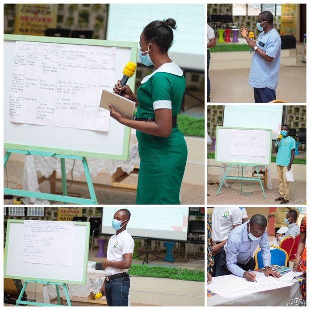 Networks prepare and present their action plans during PCP Network training in Atebubu Amantin district. Photo Credit: The Accelerator